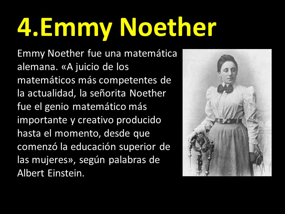 4.Emmy Noether