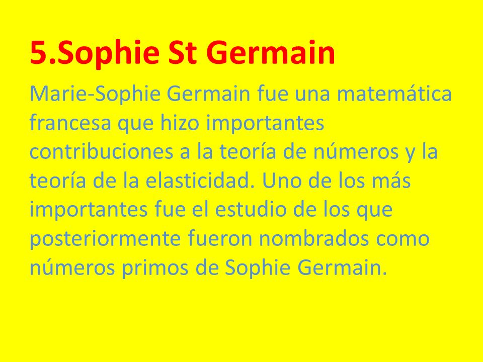 5.Sophie St Germain