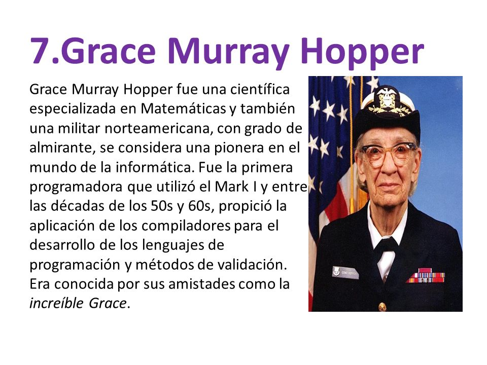 7.Grace Murray Hopper
