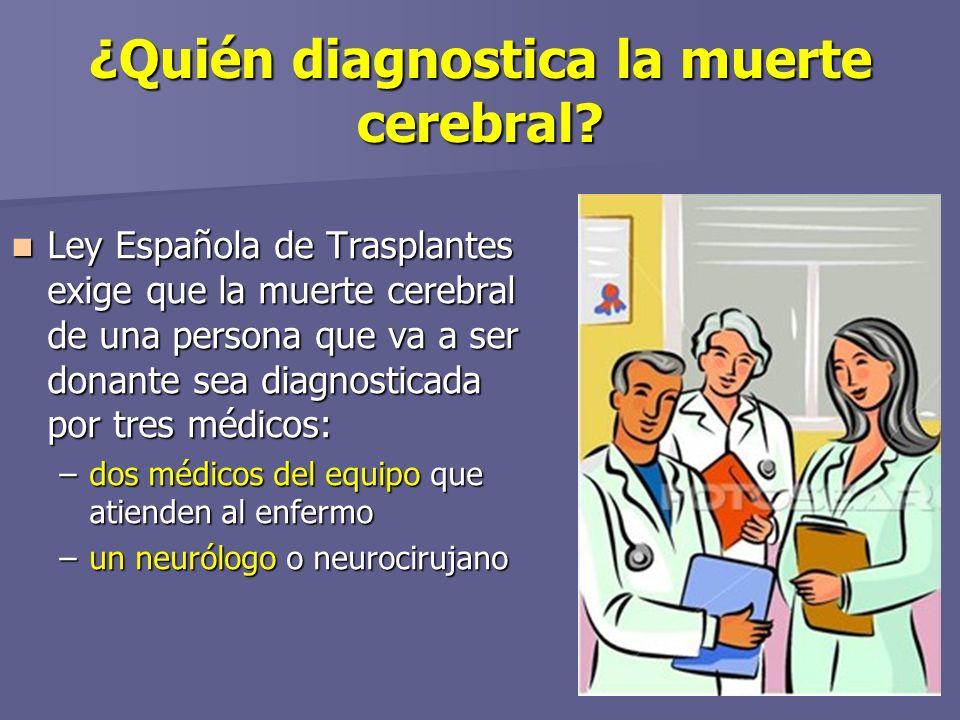¿Quién diagnostica la muerte cerebral