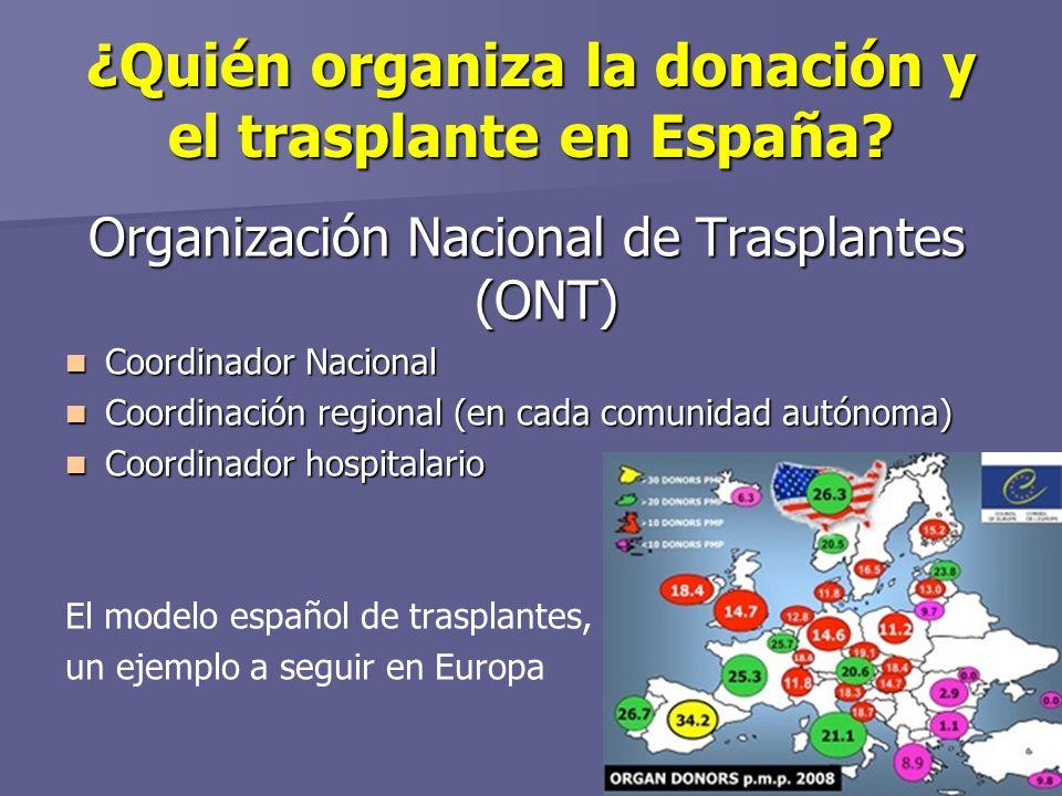 ¿Quién organiza la donación y el trasplante en España
