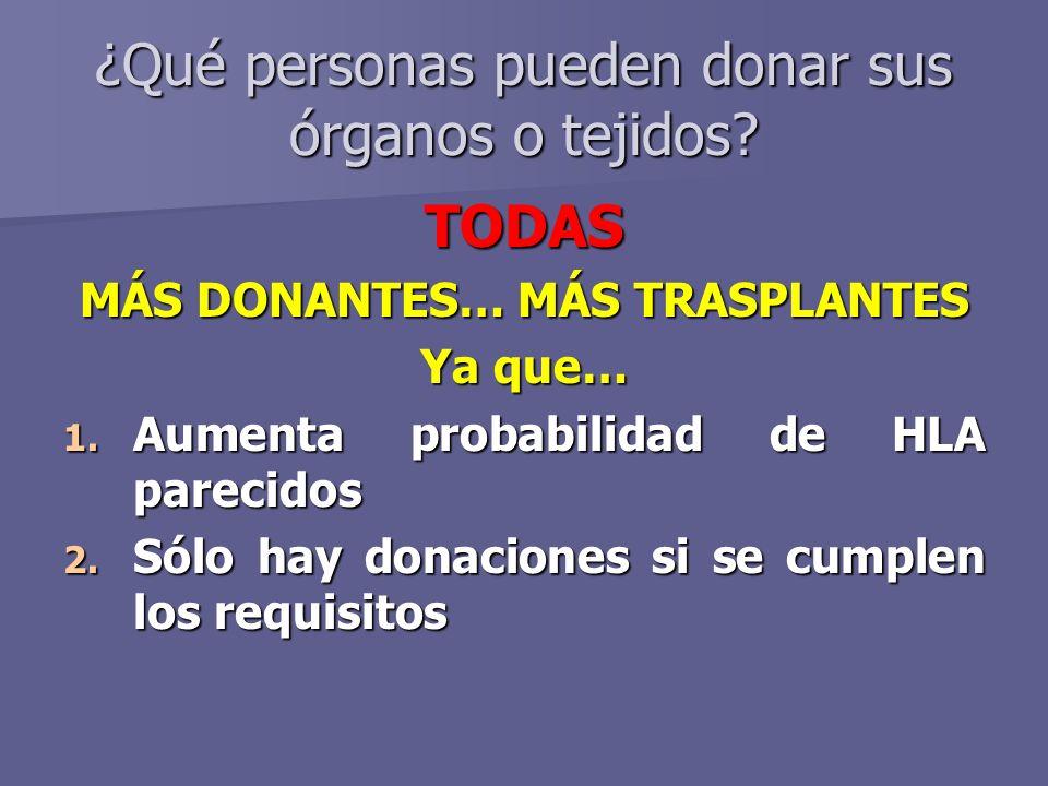 ¿Qué personas pueden donar sus órganos o tejidos