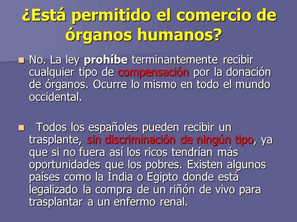 ¿Está permitido el comercio de órganos humanos