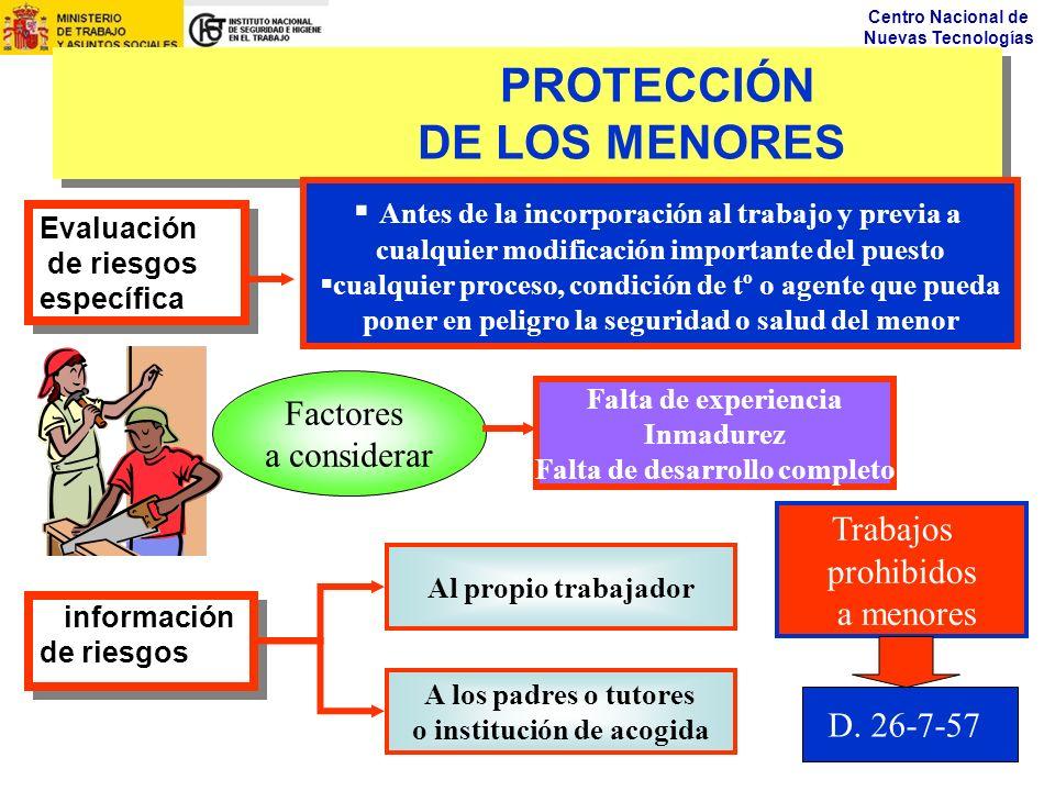 PROTECCIÓN DE LOS MENORES