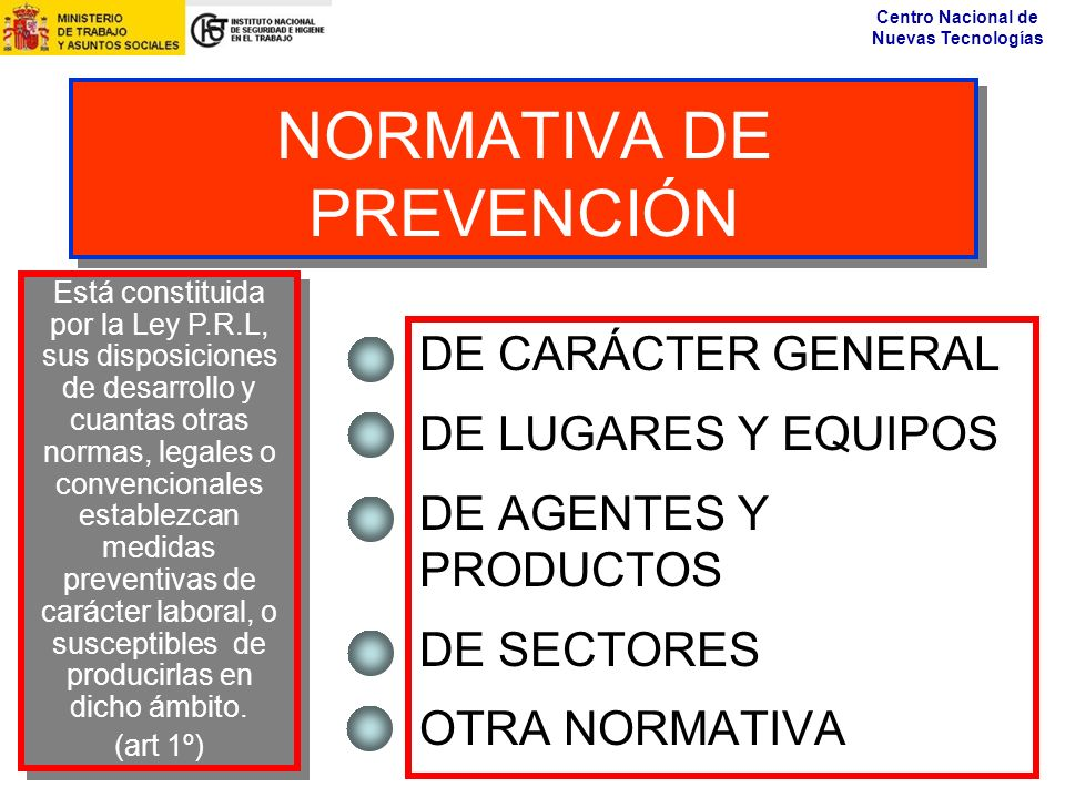 NORMATIVA DE PREVENCIÓN