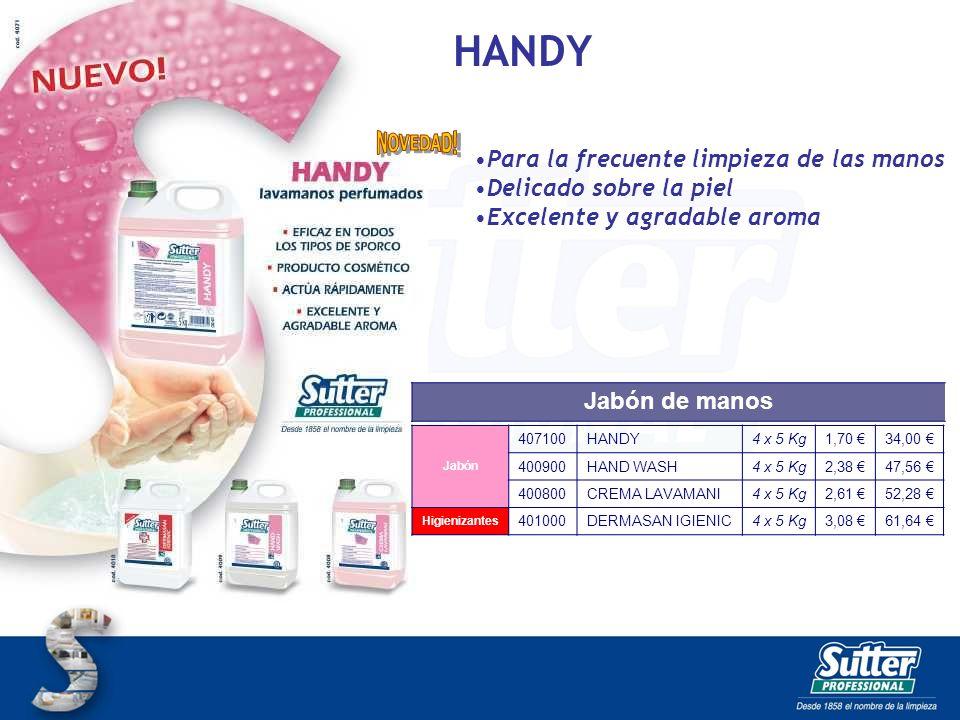 HANDY Para la frecuente limpieza de las manos Delicado sobre la piel
