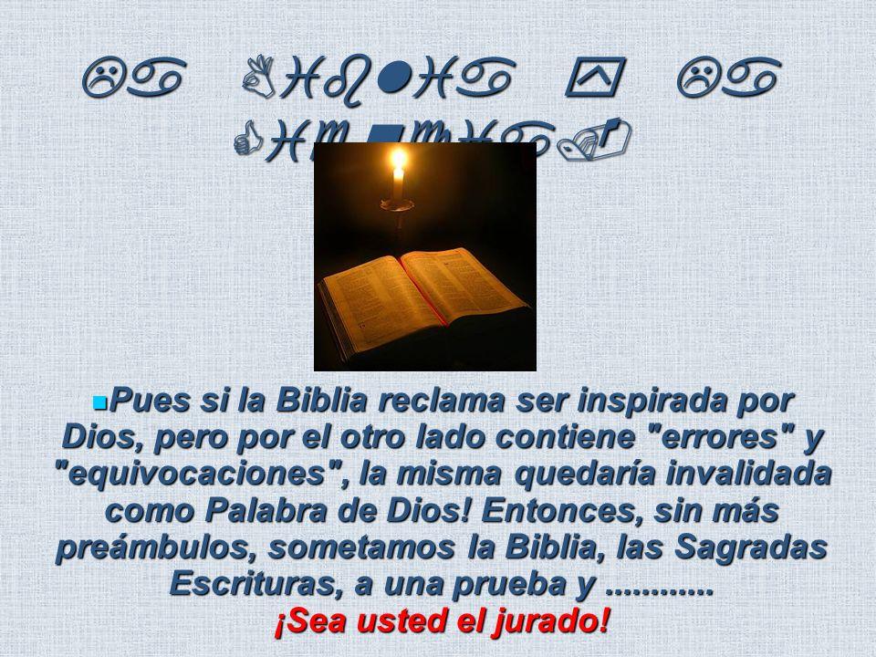 La Biblia y La Ciencia.