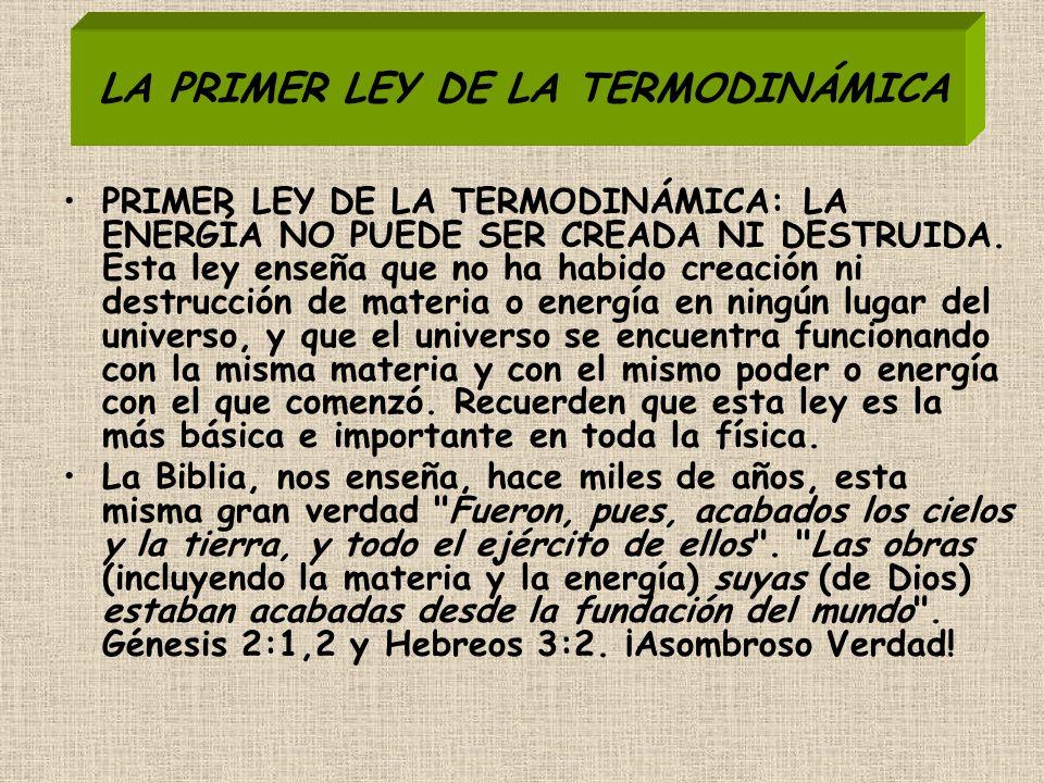 LA PRIMER LEY DE LA TERMODINÁMICA