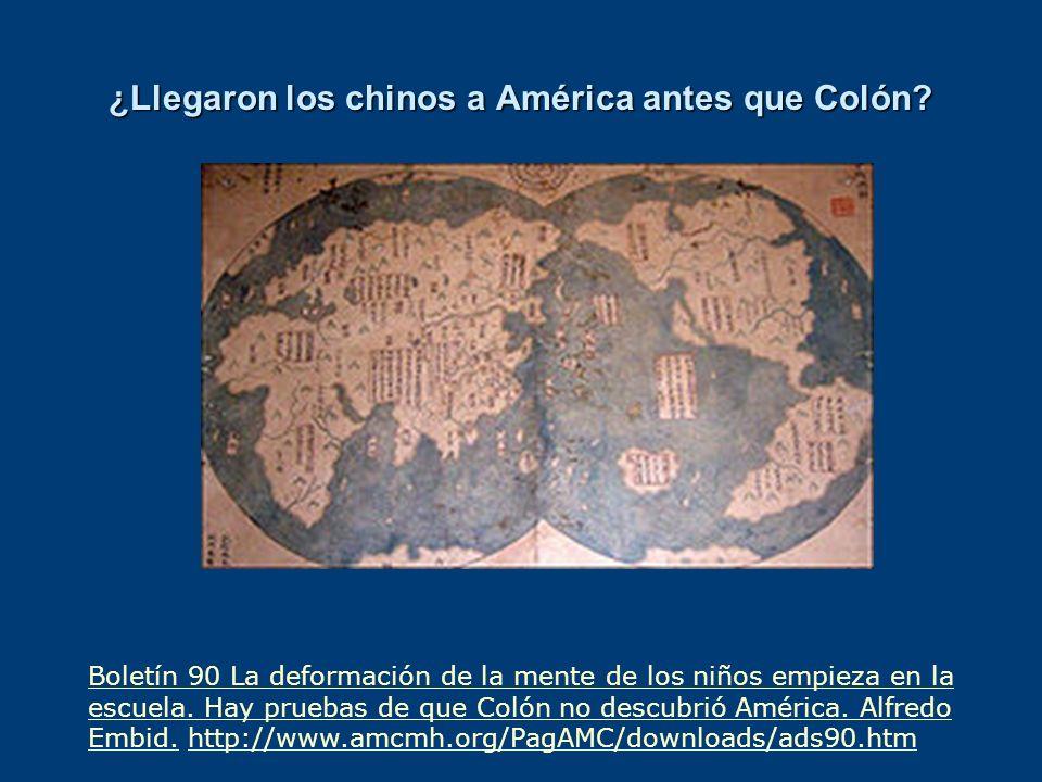 ¿Llegaron los chinos a América antes que Colón
