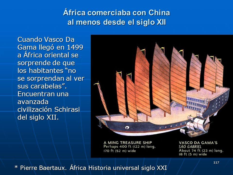 África comerciaba con China al menos desde el siglo XII