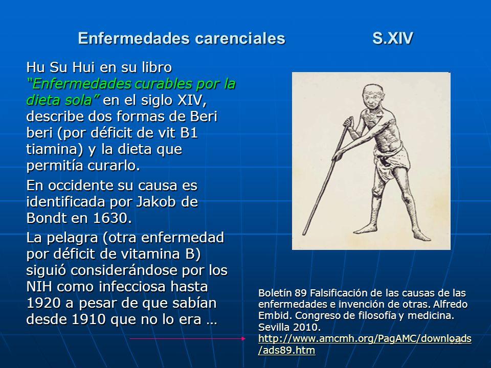 Enfermedades carenciales S.XIV