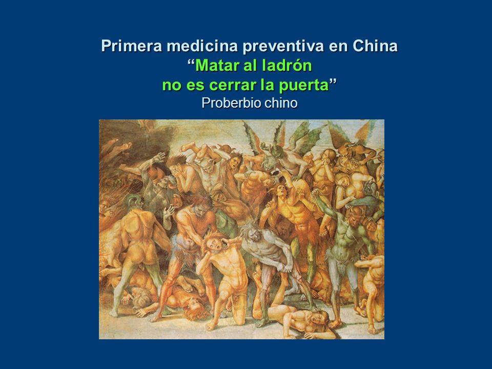 Primera medicina preventiva en China Matar al ladrón no es cerrar la puerta Proberbio chino