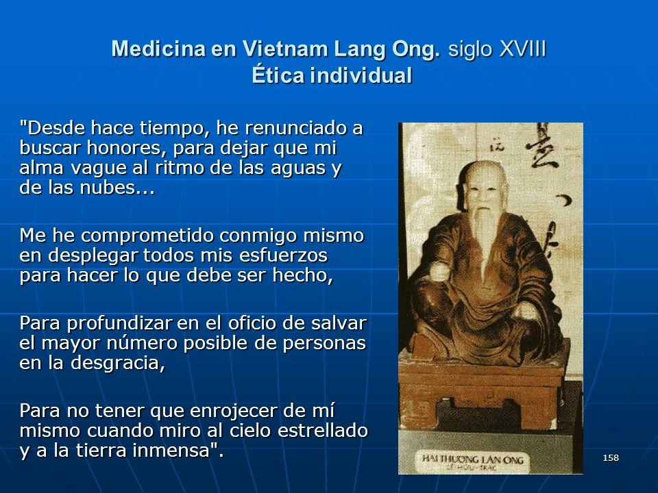 Medicina en Vietnam Lang Ong. siglo XVIII Ética individual