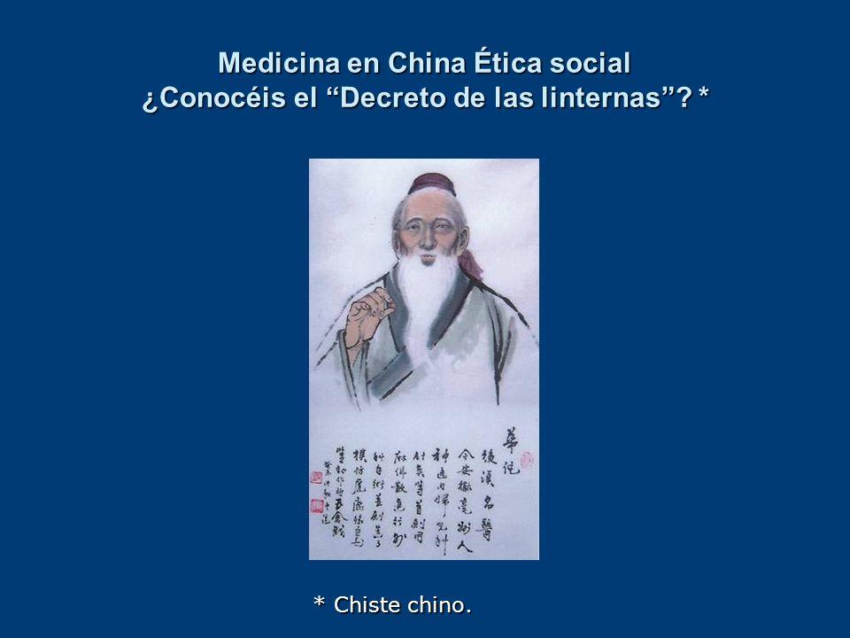 Medicina en China Ética social ¿Conocéis el Decreto de las linternas *