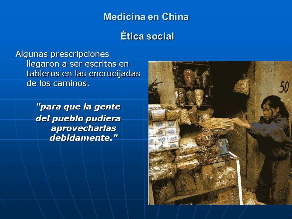 Medicina en China Ética social