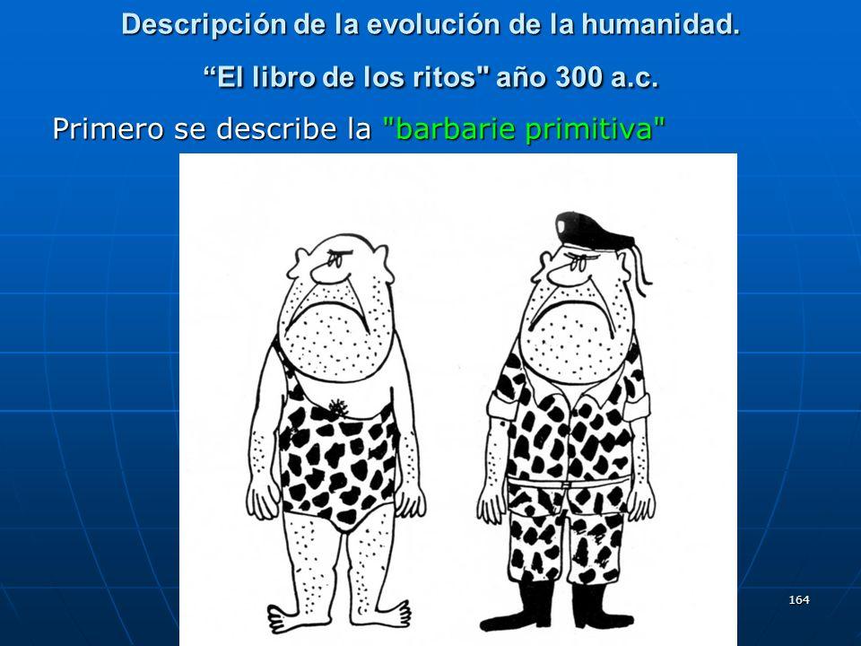 Descripción de la evolución de la humanidad