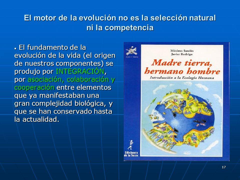 El motor de la evolución no es la selección natural ni la competencia