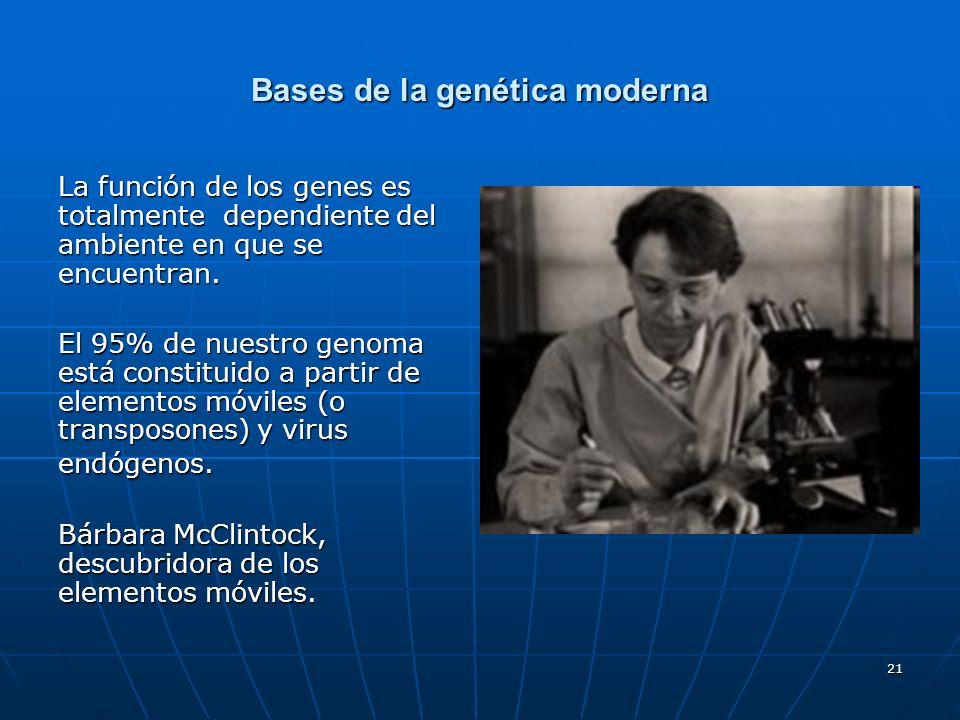 Bases de la genética moderna