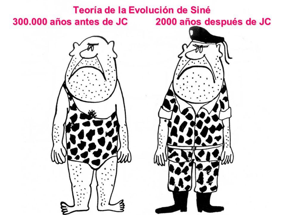 Teoría de la Evolución de Siné 300. 000 años antes de JC