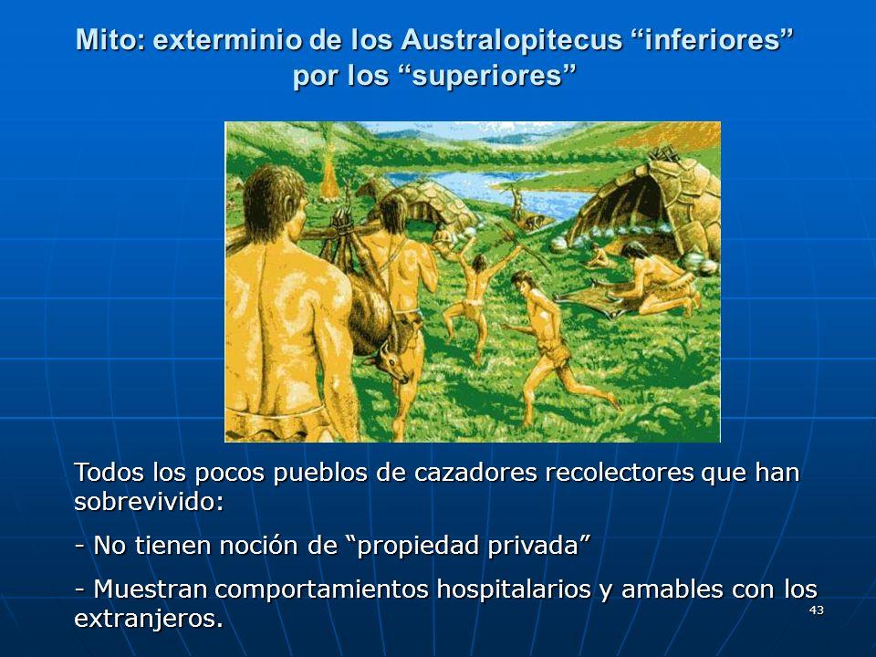 Mito: exterminio de los Australopitecus inferiores por los superiores