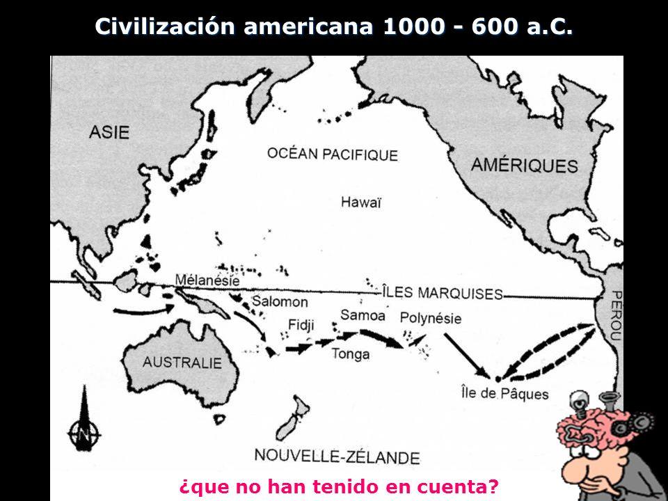 Civilización americana 1000 - 600 a.C. ¿que no han tenido en cuenta