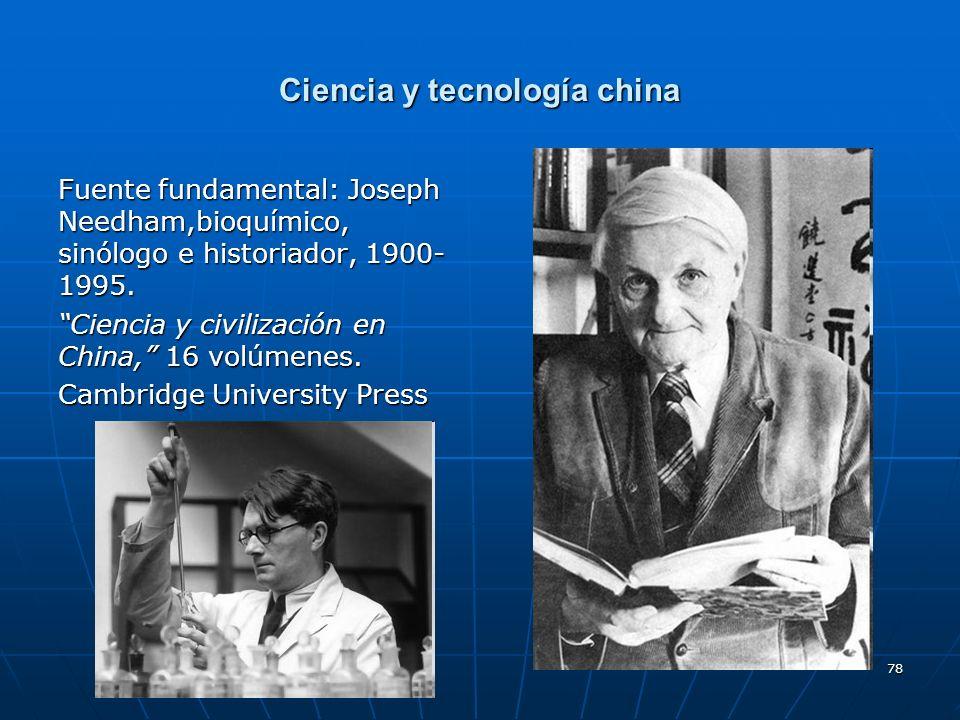 Ciencia y tecnología china