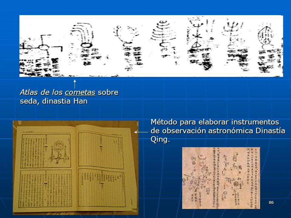 Atlas de los cometas sobre seda, dinastia Han
