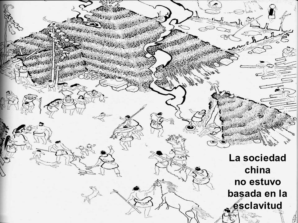 La sociedad china no estuvo basada en la esclavitud