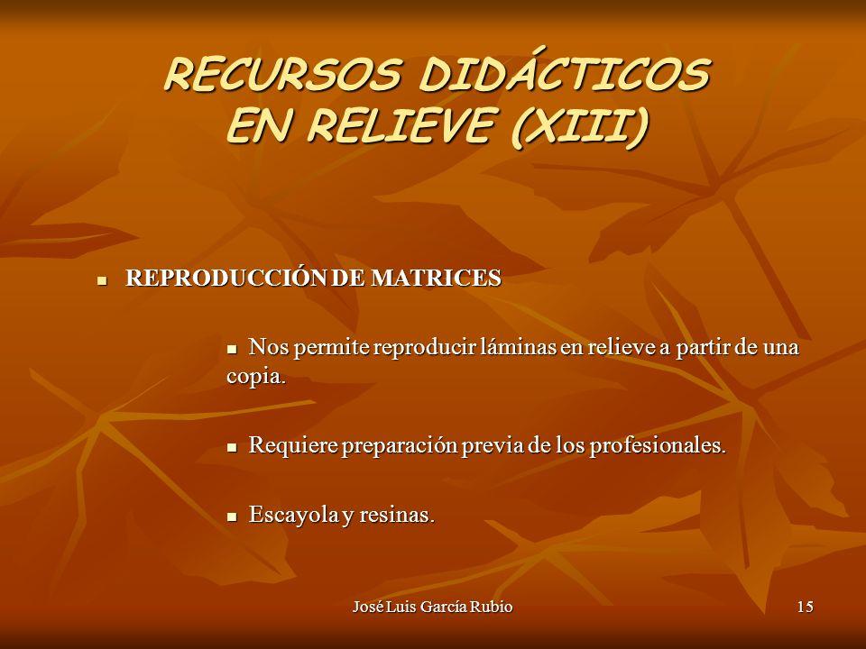RECURSOS DIDÁCTICOS EN RELIEVE (XIII)