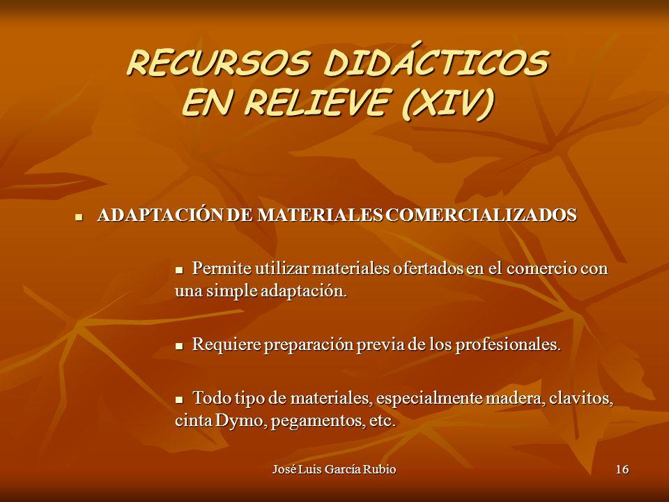RECURSOS DIDÁCTICOS EN RELIEVE (XIV)