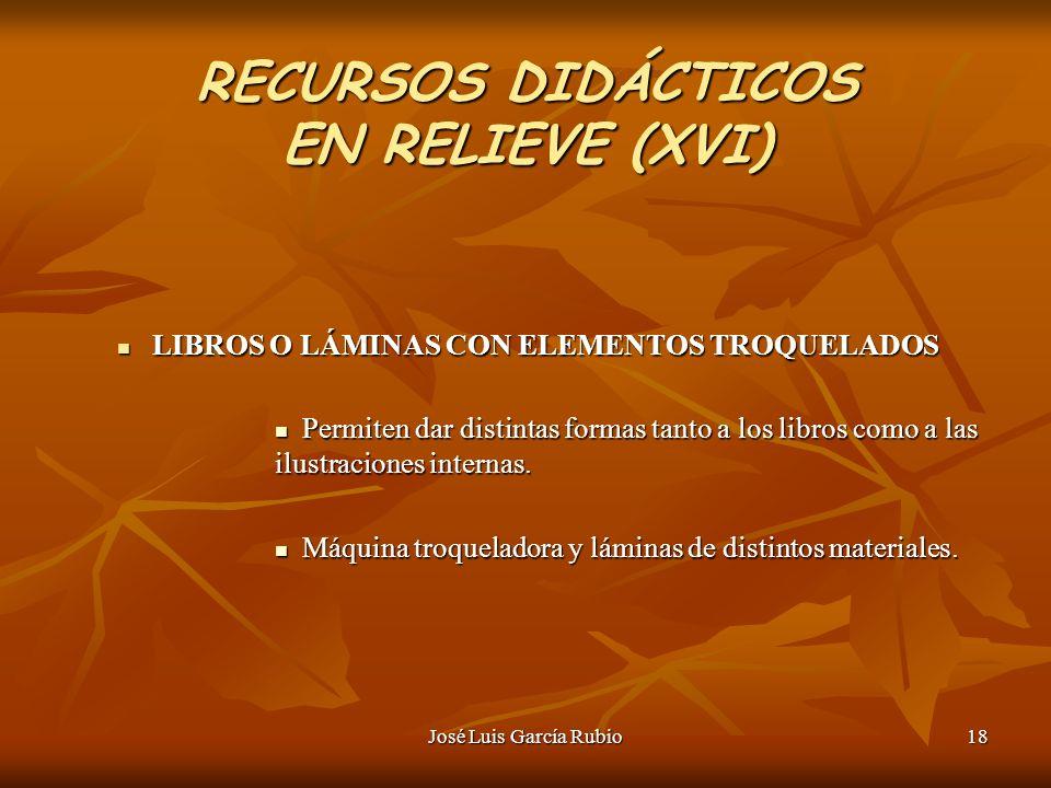 RECURSOS DIDÁCTICOS EN RELIEVE (XVI)