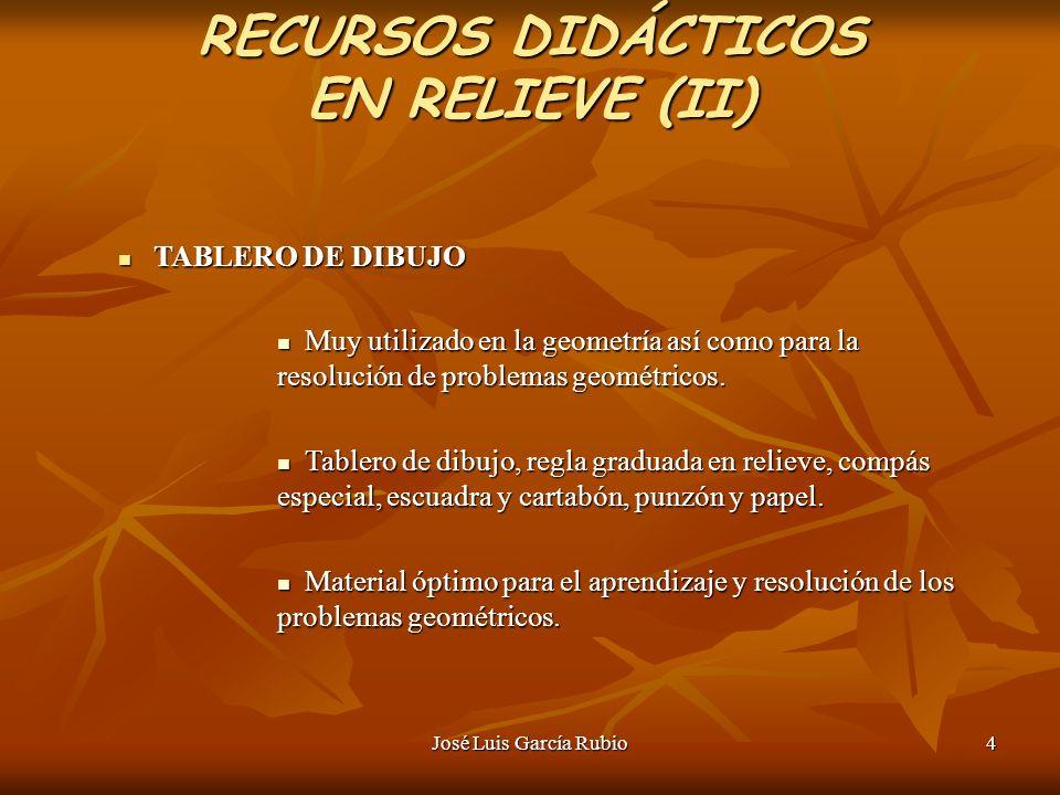 RECURSOS DIDÁCTICOS EN RELIEVE (II)