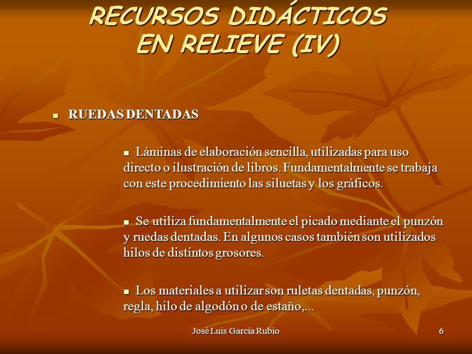 RECURSOS DIDÁCTICOS EN RELIEVE (IV)