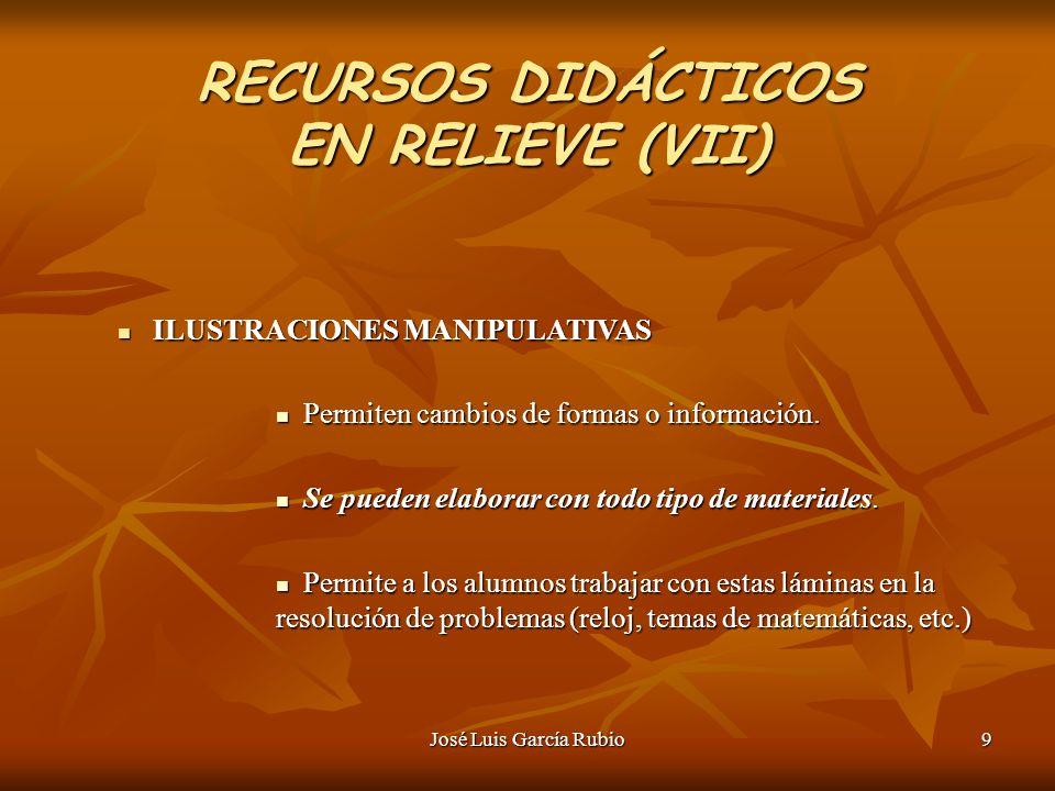 RECURSOS DIDÁCTICOS EN RELIEVE (VII)