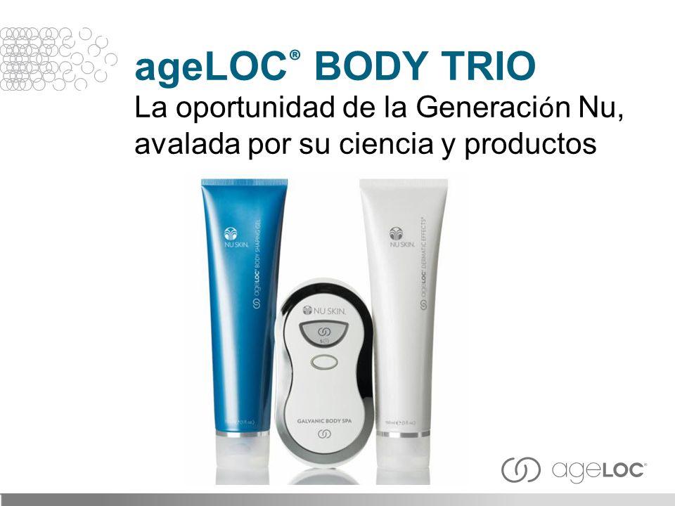 ageLOC® BODY TRIO La oportunidad de la Generación Nu, avalada por su ciencia y productos