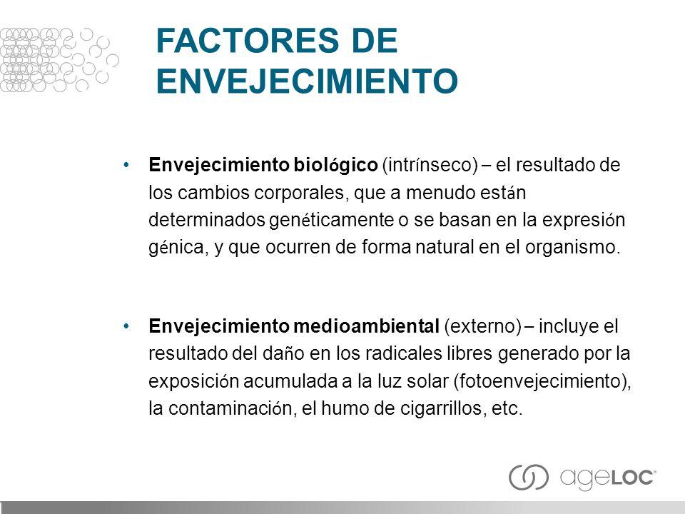 FACTORES DE ENVEJECIMIENTO