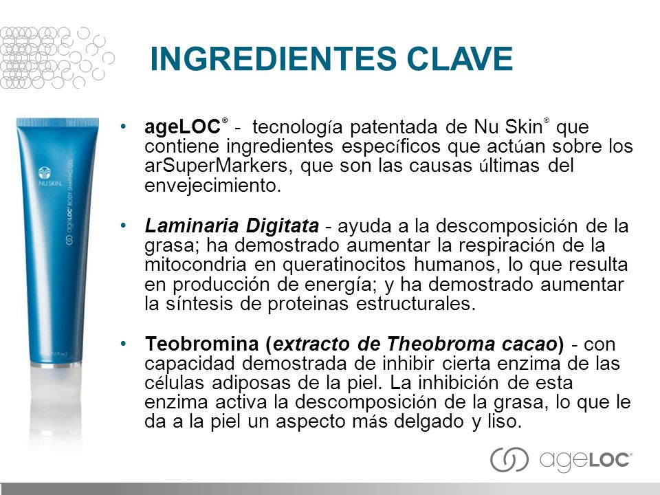 INGREDIENTES CLAVE