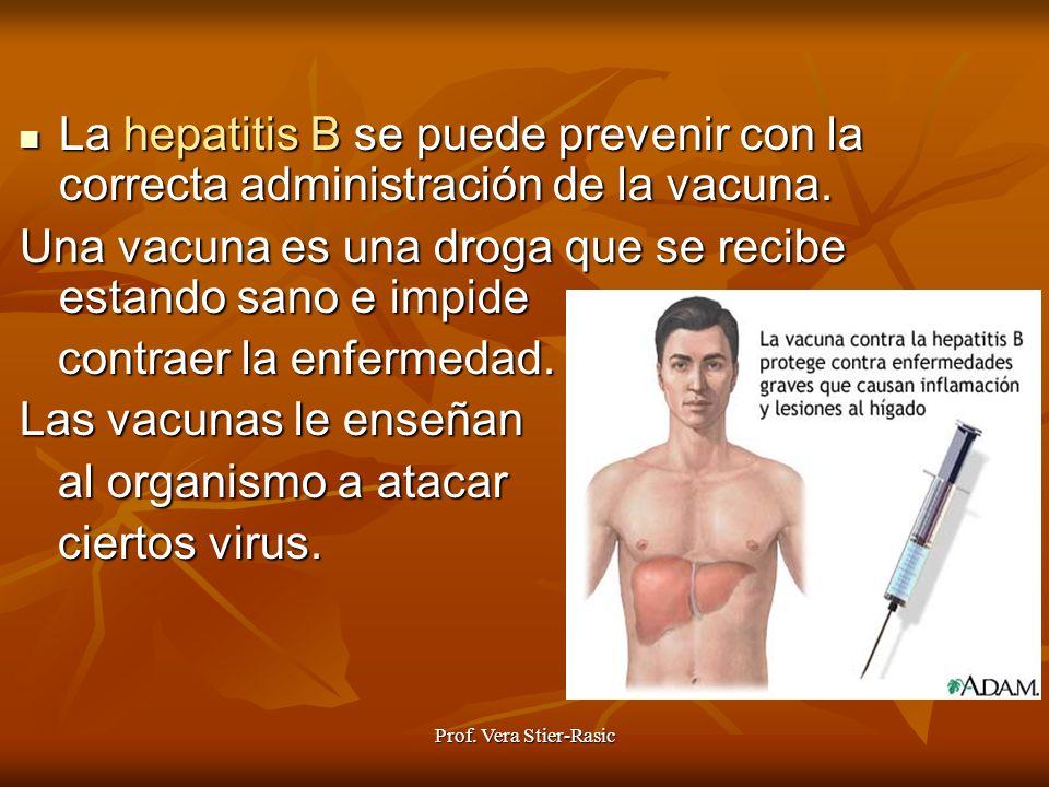 Una vacuna es una droga que se recibe estando sano e impide