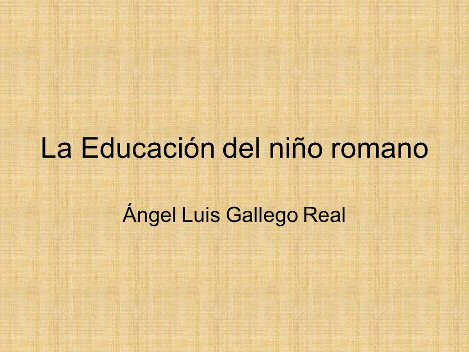 La Educación del niño romano