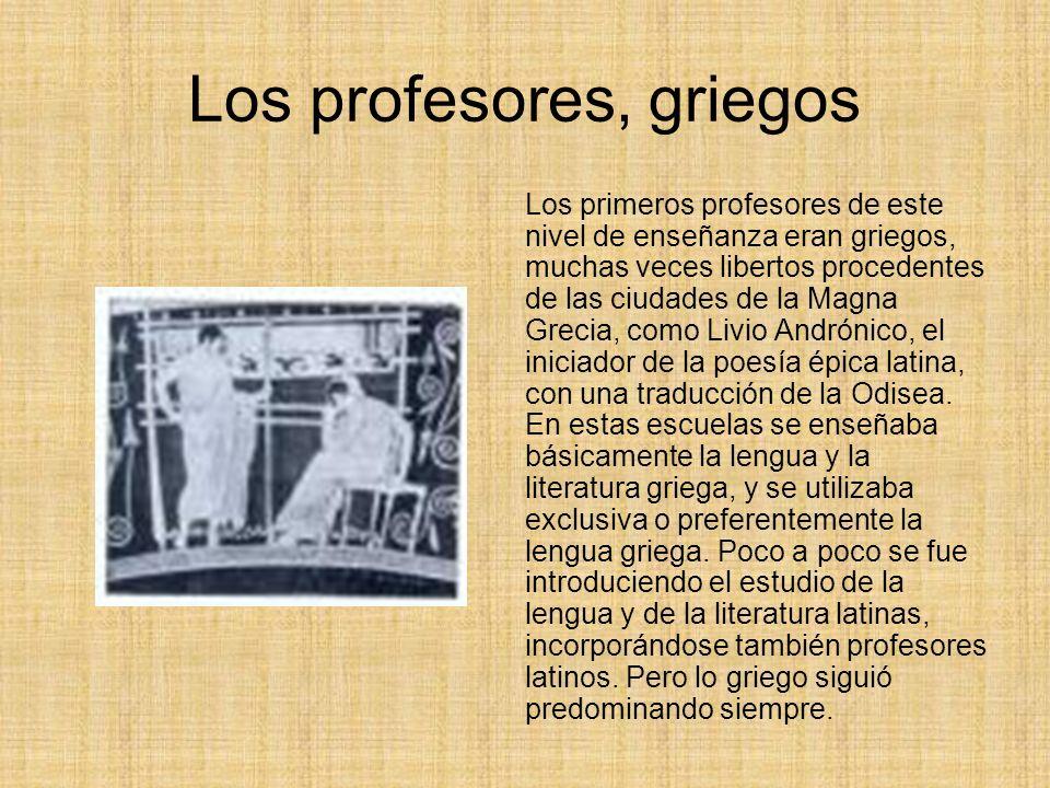 Los profesores, griegos
