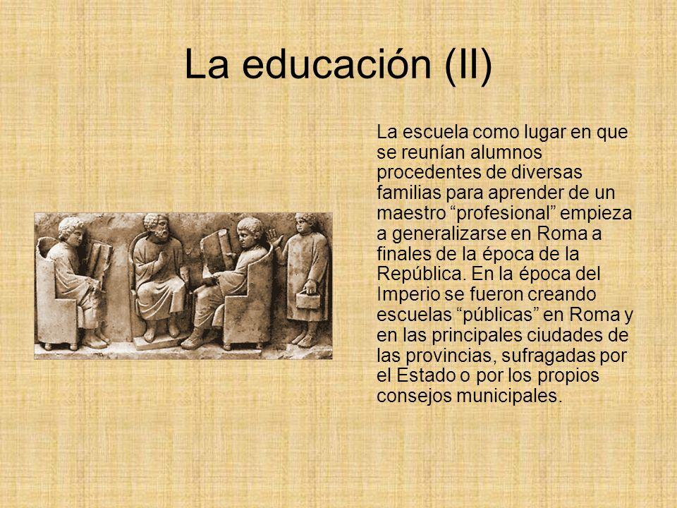La educación (II)