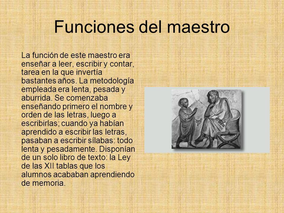 Funciones del maestro