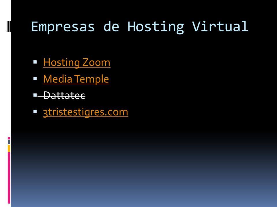 Empresas de Hosting Virtual
