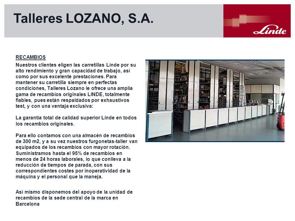 Talleres LOZANO, S.A. RECAMBIOS