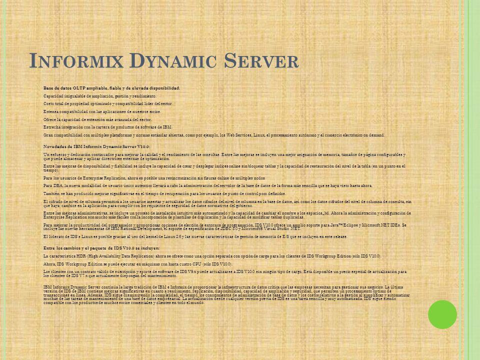 Informix Dynamic Server