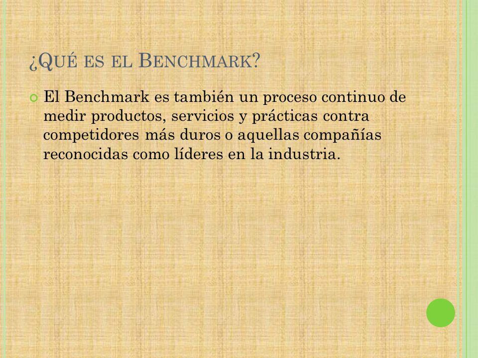 ¿Qué es el Benchmark