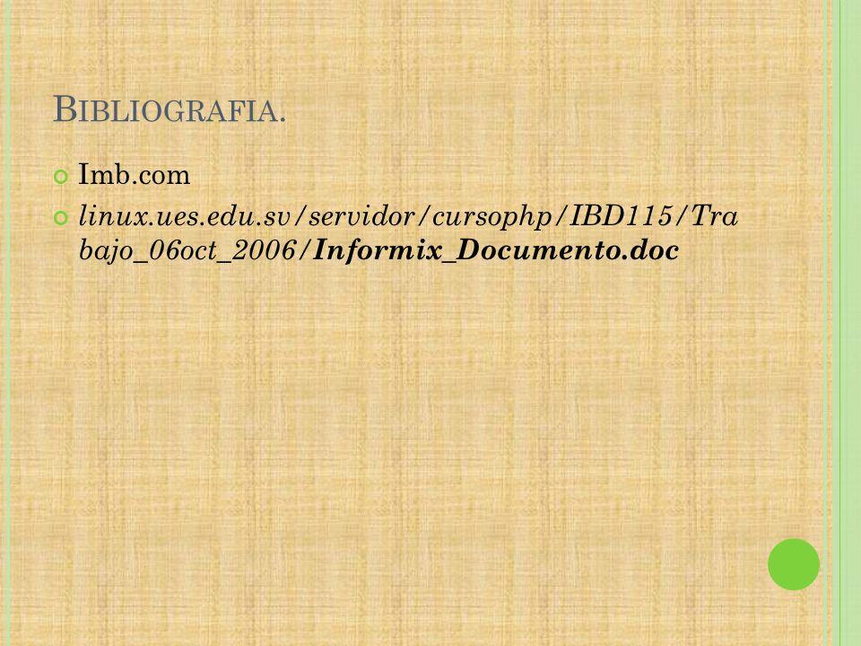 Bibliografia. Imb.com.
