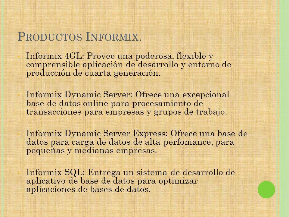 Productos Informix.