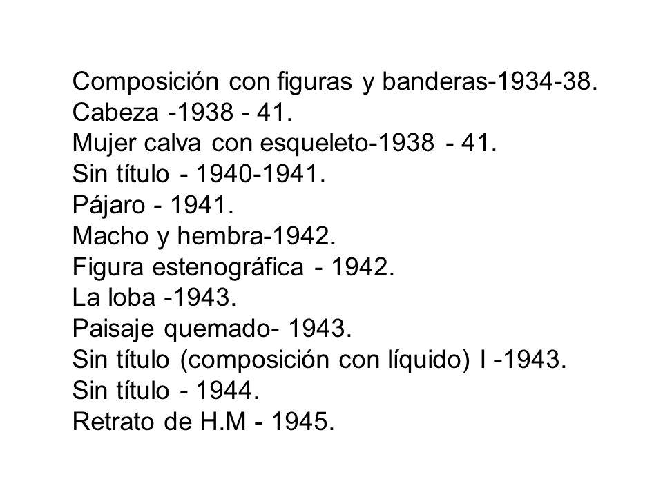 Composición con figuras y banderas-1934-38.