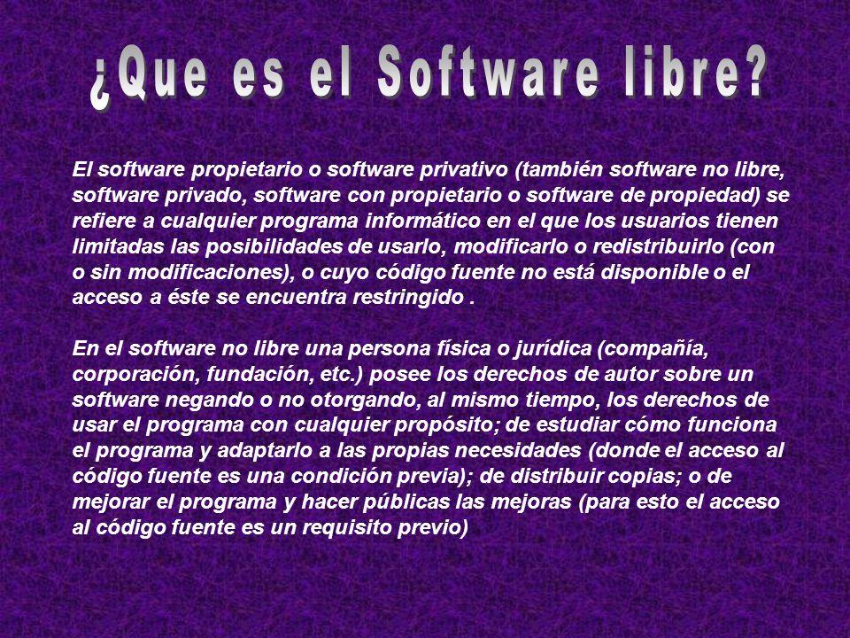 ¿Que es el Software libre